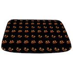 Halloween Pumpkin Faces Bathmat