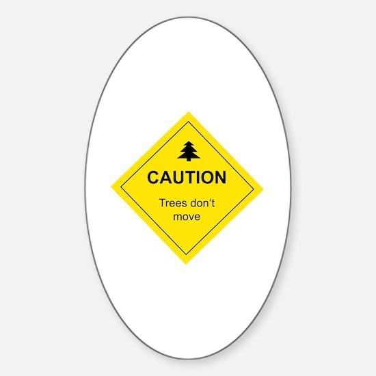 Cute Skiing Sticker (Oval)