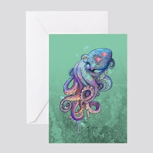 Octopus Watercolor Greeting Cards