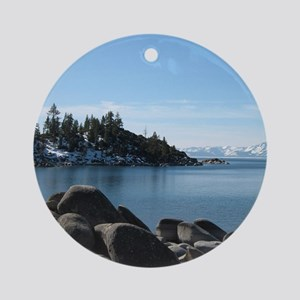 Lake Tahoe, Incline Village Round Ornament