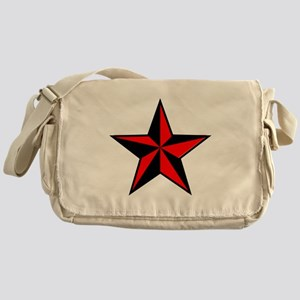 red and black star Messenger Bag