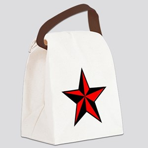 red and black star Canvas Lunch Bag