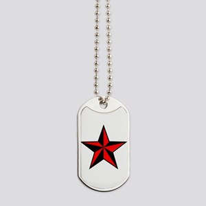 red and black star Dog Tags