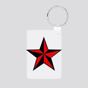 red and black star Keychains