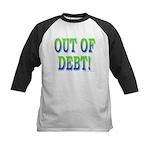 Out of debt Kids Baseball Jersey