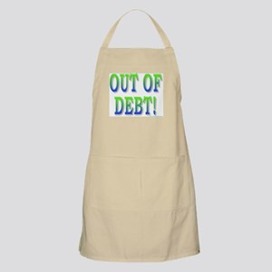 Out of debt BBQ Apron