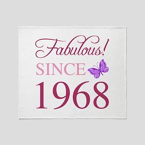 1968 Fabulous Birthday Throw Blanket