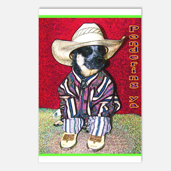 """""""Pondering Ya"""" AuCaDogs Postcards (Package of 8)"""