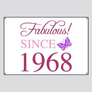 1968 Fabulous Birthday Banner