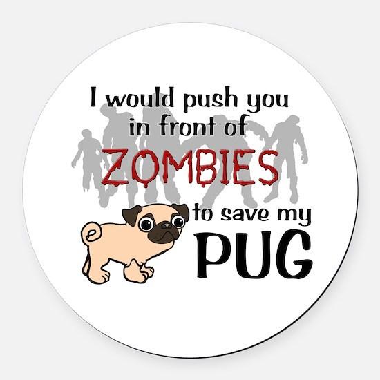 Unique Zombies Round Car Magnet