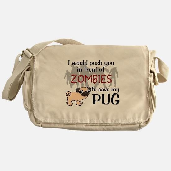 Cute Zombies Messenger Bag