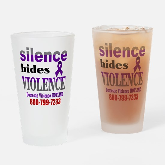 Silence Hides Violence Drinking Glass