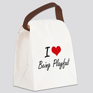 I Love Being Playful Artistic Des Canvas Lunch Bag