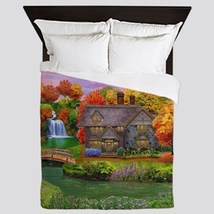 England Countryside Autumn Queen Duvet