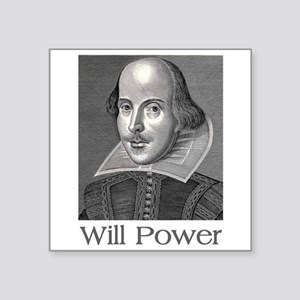 Shakespeare Will Power Sticker