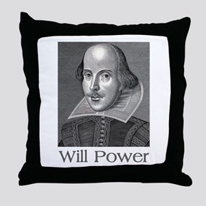 Shakespeare Will Power Throw Pillow