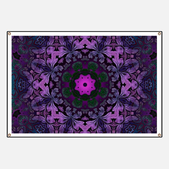 Gothic vintage purple abstract bohemian Banner