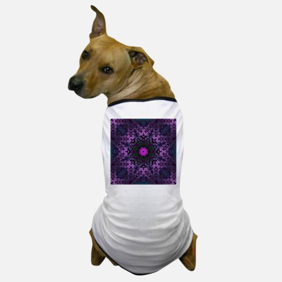 Gothic vintage purple abstract bohemia Dog T-Shirt