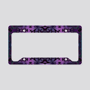 Gothic vintage purple abstrac License Plate Holder