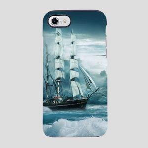 Blue Ocean Ship Storm Clouds iPhone 8/7 Tough Case