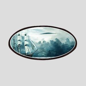 Blue Ocean Ship Storm Clouds Patch