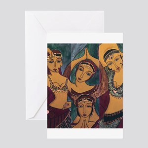 Sisters In Dance Greeting Card
