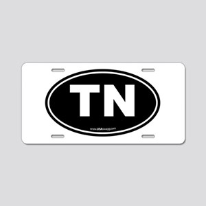 Tennessee TN Euro Oval Aluminum License Plate