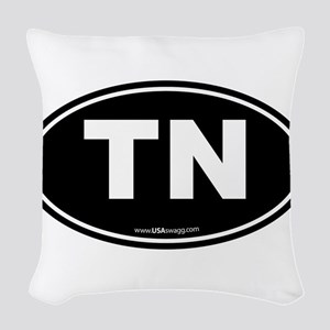 Tennessee TN Euro Oval Woven Throw Pillow
