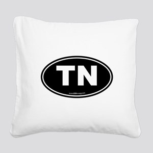 Tennessee TN Euro Oval Square Canvas Pillow