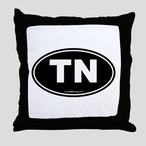 Tennessee TN Euro Oval Throw Pillow