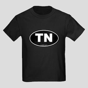 Tennessee TN Euro Oval Kids Dark T-Shirt
