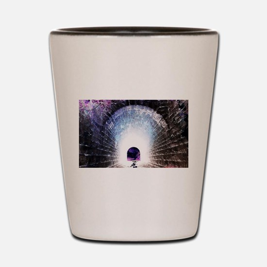 Worm hole to another time. Shot Glass