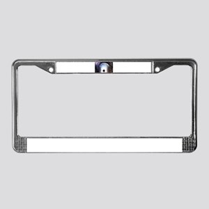 Worm hole to another time. License Plate Frame