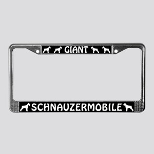 Giant Schnauzermobile License Plate Frame
