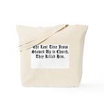 Jesus in Church Tote Bag