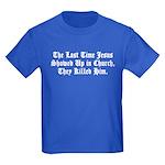 Jesus in Church Kids Dark T-Shirt