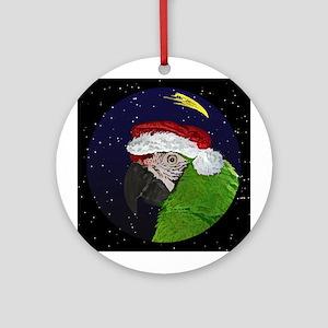 Christmas Night Military Macaw Christmas Ornament