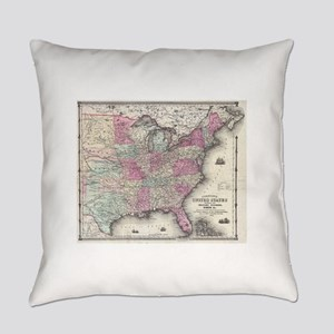 Vintage Map of The Eastern United Everyday Pillow