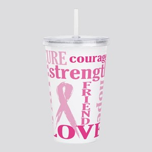 Breast Cancer Friend S Acrylic Double-wall Tumbler