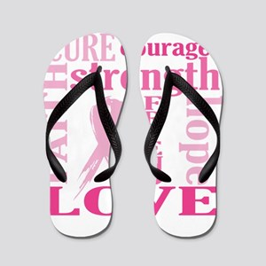 Breast Cancer Friend Support Flip Flops