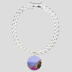 Purple Bougainvillea & P Charm Bracelet, One Charm