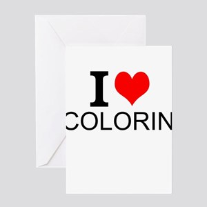 I Love Coloring Greeting Cards