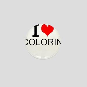 I Love Coloring Mini Button