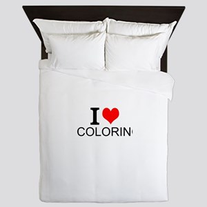 I Love Coloring Queen Duvet