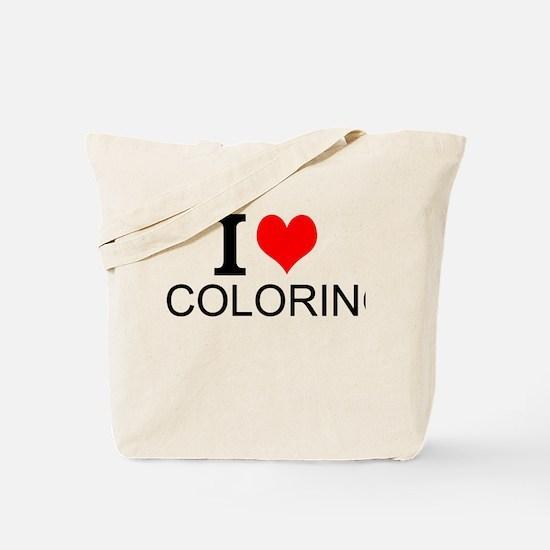 I Love Coloring Tote Bag