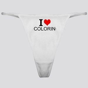 I Love Coloring Classic Thong