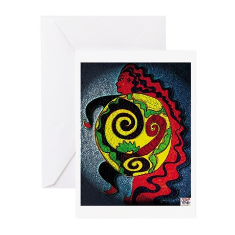 Universe in the belly of a wo Greeting Cards (Pk o