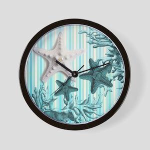romantic seashells shabby chic Wall Clock