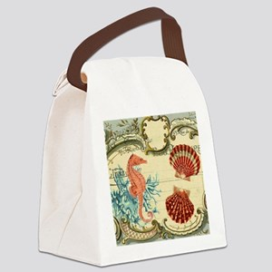 romantic seashells shabby chic Canvas Lunch Bag