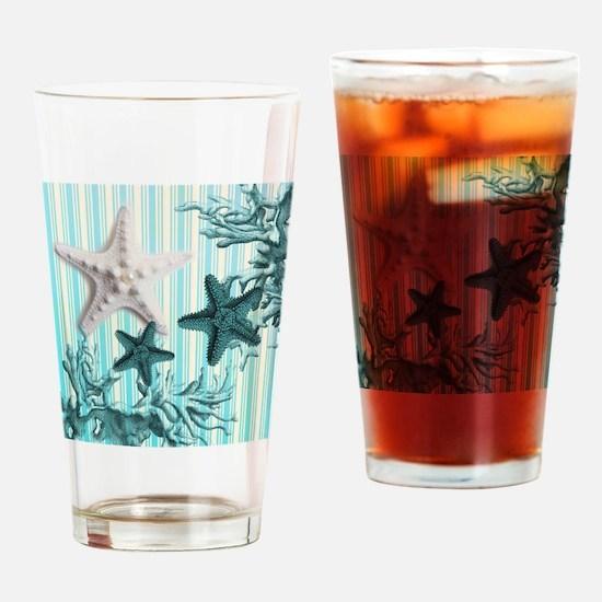 romantic seashells shabby chic Drinking Glass